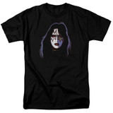 Kiss Ace Frehley Cover Adult 18/1 T-Shirt Black