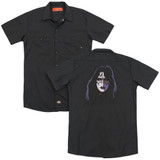 Kiss Ace Frehley Cover (Back Print) Adult Work Shirt Black