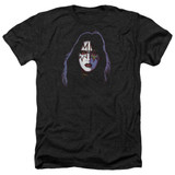 Kiss Ace Frehley Cover Adult Heather T-Shirt Black