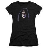 Kiss Ace Frehley Cover Premium Junior Women's Sheer T-Shirt Black
