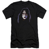 Kiss Ace Frehley Cover Adult 30/1 T-Shirt Black
