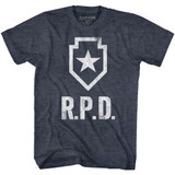 Resident Evil RPD Navy Heather Adult T-Shirt
