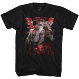 Street Fighter Smoky V Black Adult T-Shirt