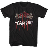 Carrie Queen Carrie Black Adult T-Shirt