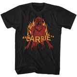 Carrie Blood And Fire Black Adult T-Shirt