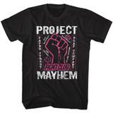 Fight Club Mayhem Black Adult T-Shirt