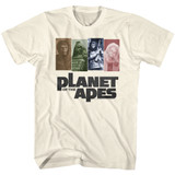 Planet of the Apes Apes 68 Natural Adult T-Shirt