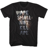 Planet of the Apes Shall Not Kill Black Adult T-Shirt