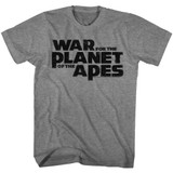 Planet of the Apes War Logo Graphite Heather Adult T-Shirt