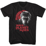 Planet of the Apes Angry Face Black Adult T-Shirt