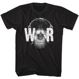 Planet of the Apes War Face Black Adult T-Shirt