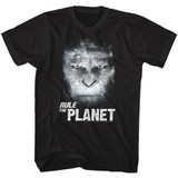 Planet of the Apes Rule The Planet Classic Black Adult T-Shirt