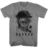 Planet of the Apes Horse Face Ape Graphite Heather Adult T-Shirt