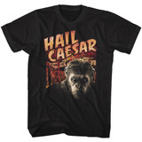 Planet of the Apes Hail Caesar Black Adult T-Shirt