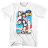 Saved By The Bell Group Shot White Adult T-Shirt