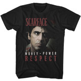Scarface Mopower Black Adult T-Shirt