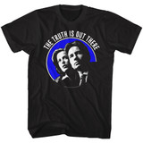 X-Files Out There Black Adult T-Shirt