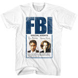 X-Files Special Agents White Adult T-Shirt