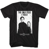 X-Files The Only Feds Black Adult T-Shirt
