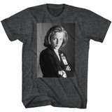X-Files Scully Black Heather Adult T-Shirt