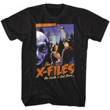 X-Files Old Movie Poster Black Adult T-Shirt