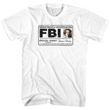 X-Files Skully Badge White Adult T-Shirt