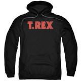 T. Rex Logo Adult Pullover Hoodie Sweatshirt Black