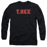 T. Rex Logo Long Sleeve Adult 18/1 T-Shirt Black
