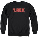 T. Rex Logo Adult Crewneck Sweatshirt Black