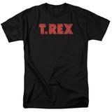 T. Rex Logo S/S Adult 18/1 T-Shirt Black