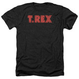 T. Rex Logo Adult Heather T-Shirt Black