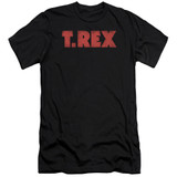 T. Rex Logo Premuim Canvas Adult Slim Fit 30/1 T-Shirt Black