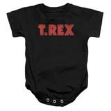 T. Rex Logo Infant Baby Snapsuit Romper Black