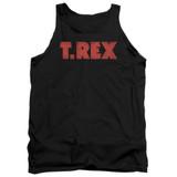 T. Rex Logo Adult Tank Top Black