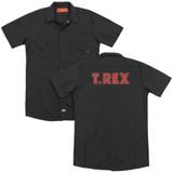 T. Rex Logo(Back Print) Adult Work Shirt Black