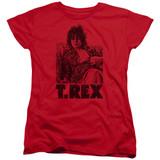 T. Rex Lounging S/S Women's T-Shirt Red