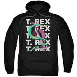 T. Rex Snake Adult Pullover Hoodie Sweatshirt Black