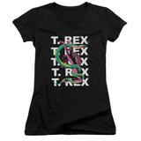 T. Rex Snake Junior Women's T-Shirt V Neck Black
