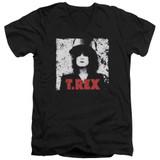 T. Rex The Slider S/S Adult V Neck 30/1 T-Shirt Black