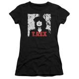 T. Rex The Slider S/S Junior Women's T-Shirt Sheer Black