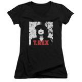 T. Rex The Slider Junior Women's T-Shirt V Neck Black