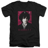 Syd Barrett Pink Floyd Syd S/S Adult V Neck 30/1 T-Shirt Black