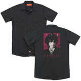 Syd Barrett Pink Floyd Syd (Back Print) Adult Work Shirt Black