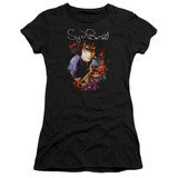 Syd Barrett Pink Floyd Madcap Syd S/S Junior Women's T-Shirt Sheer Black