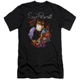 Syd Barrett Pink Floyd Madcap Syd Premium Canvas Adult Slim Fit 30/1 T-Shirt Black