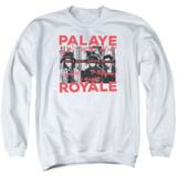 Palaye Royale Oh No Adult Crewneck Sweatshirt White