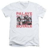 Palaye Royale Oh No Adult V-Neck T-Shirt White
