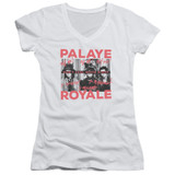 Palaye Royale Oh No Junior Women's V-Neck T-Shirt White