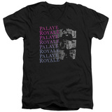 Palaye Royale Torn Adult V-Neck T-Shirt Black