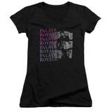 Palaye Royale Torn Junior Women's V-Neck T-Shirt Black